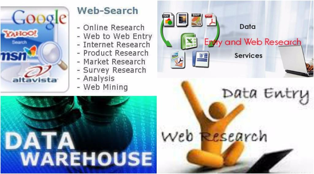 Do internet research and Data Entry for 5 days or more