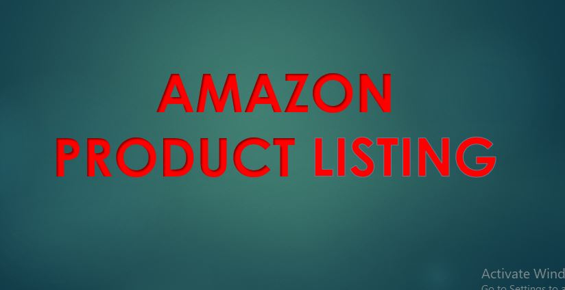 create attractive amazon product listing
