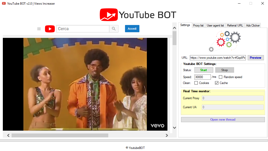 YouTube BOT v2.0 - Professional views BOT all-in-one