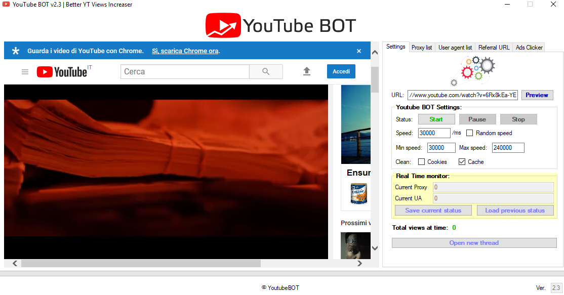 YouTube BOT v2.3.1 - Professional views BOT all-in-one
