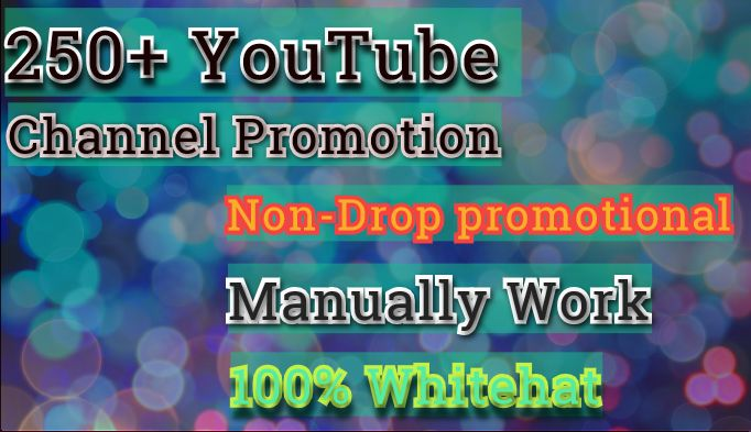 Get Instant Manually Do 250 channel Promotion Non-Drop Guaranteed