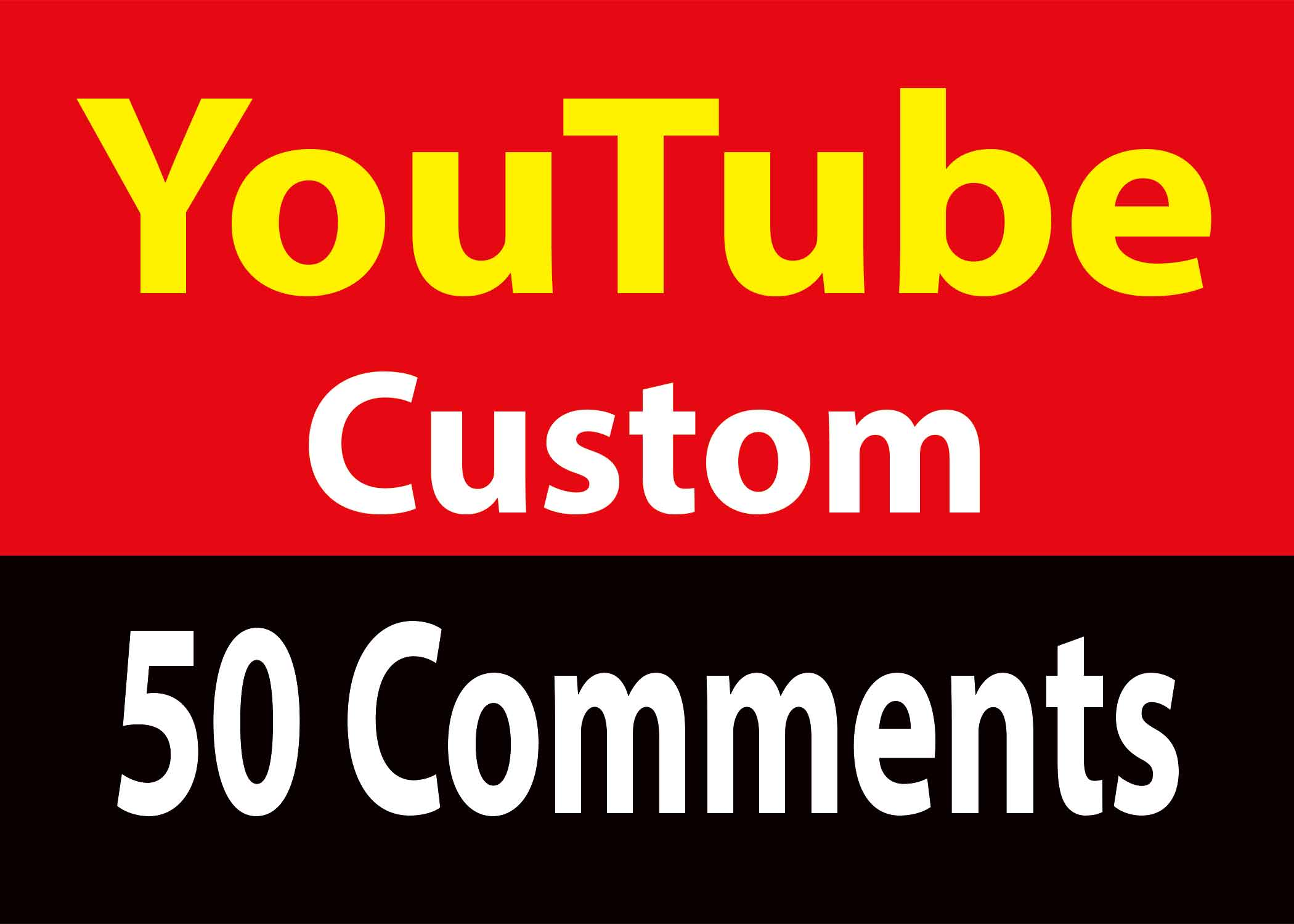 INSTANT  Yo-Tube 50 Custom Co-mment 2 Hours Delivery