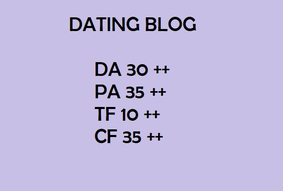 Guest Post Quality Dating blog for $5