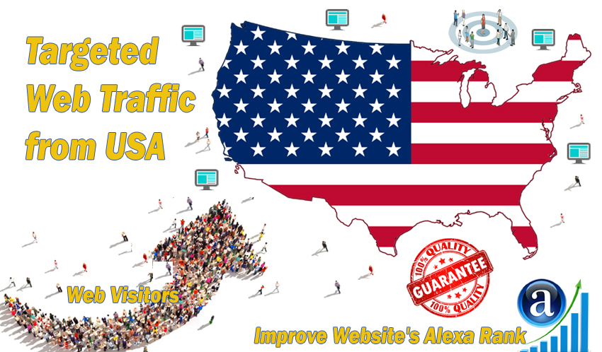 Send 25000 USA web visitors real targeted geo traffic