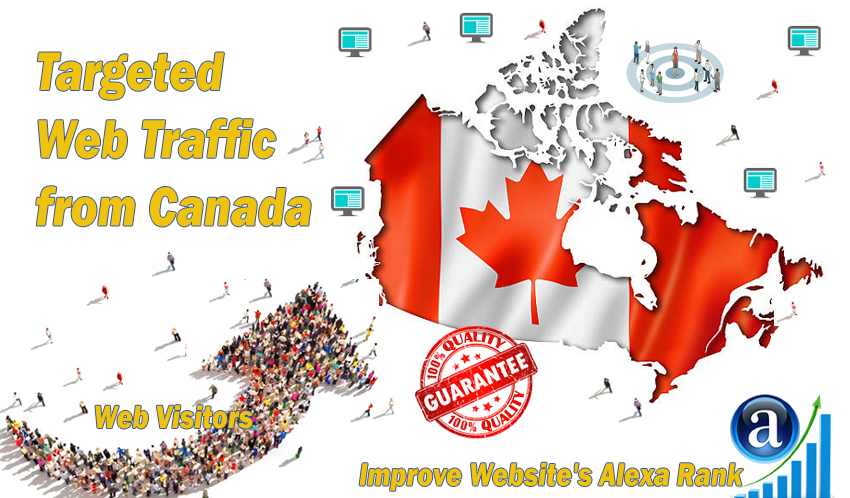 Send 20.000 Canada web visitors real targeted geo traffic