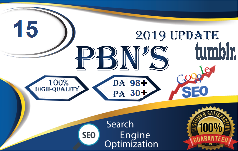 Build 15 PBN Permanent Backlinks High quality On DA 98 PA 30+ Tumblr to Improve SEO and Boost Google Ranking