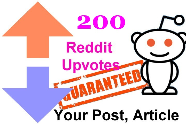 200 reddit upvotes to your reddit post or links or articles