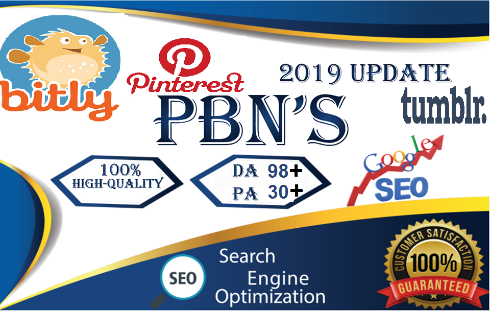 Get You 599 pinterest Share+100 bitly Share+5 pbn backlinks DA 98 PA 30+ Promotion profit to Boost UP SEO website Traffic & Bookmarking Backlink Great way to increase Google ranking