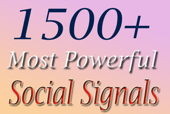 Super Fast 1500 Social Signals in 6 Hour