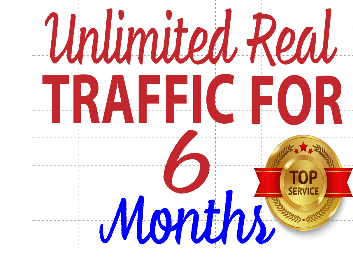 UNLIMITED 6 Months HUMAN TRAFFIC BY Google Twitter Youtube and many more
