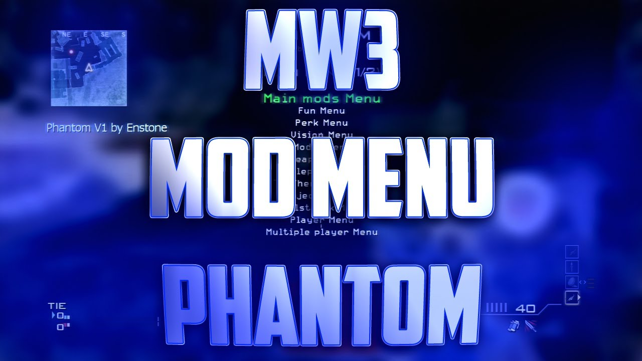 COD MW3 Mod Menu Phantom  (PS3)