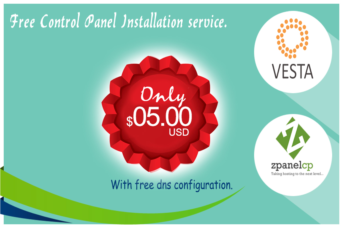 setup and configure vesta cp, zpanel on your server ...