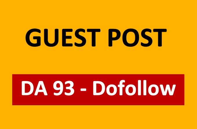 Publish Guest Post On Da93 Dofollow high authority sites