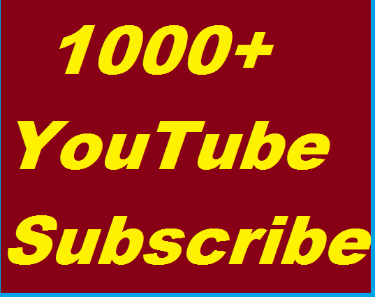 1000+ Youtube Subscribers non drop Instant start