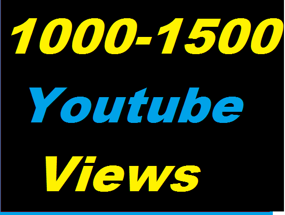Guaranteed 1000-1500 Youtube Non Drop Views Give you in 20-24 Hours
