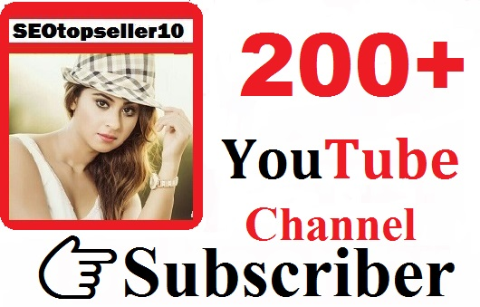 Instant 200+ Youtube channel subcriber non drop guaranteed