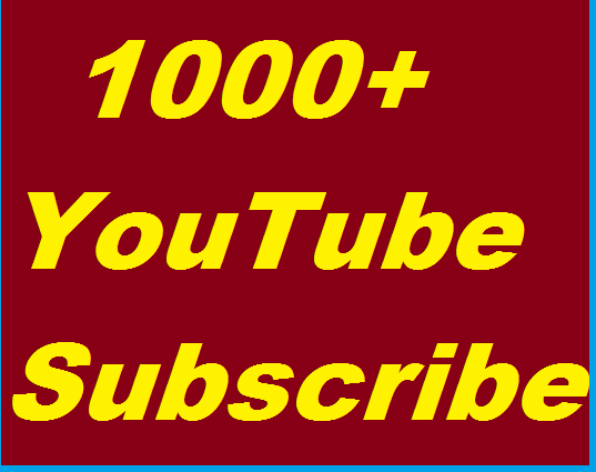 1000+ Youtube High Quality Subsc,ribers Non Drop Guaranteed