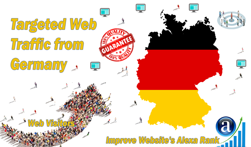 Send 25.000 Germany web visitors real targeted geo traffic
