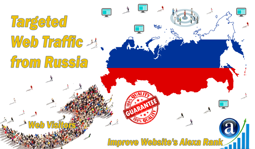 Send 50.000 Russia web visitors real targeted geo traffic