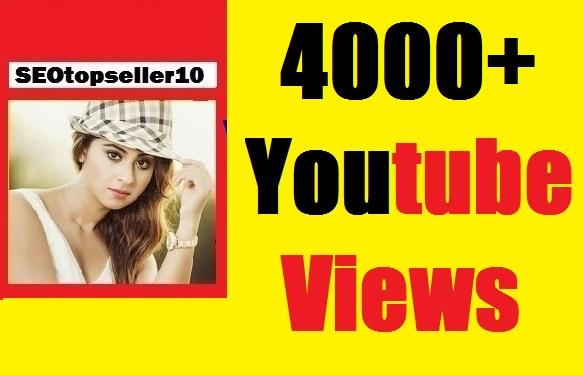 4000+ Youtube v-i-wes with 20 L-ik-es non drop guaranteed