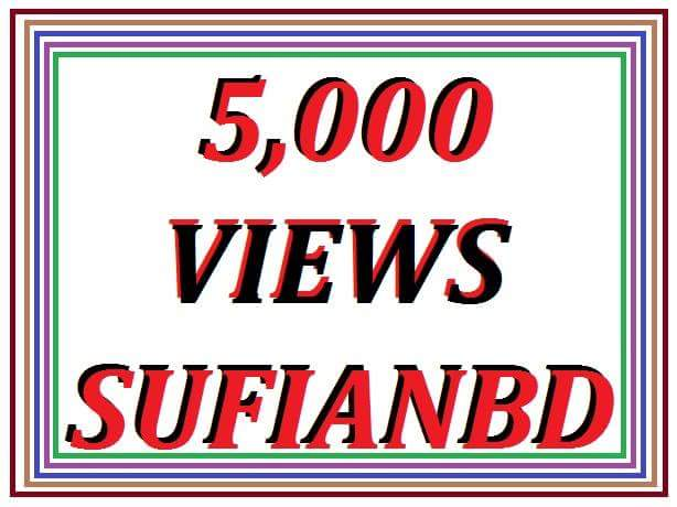 offer 5000 YouTube real  views non drop
