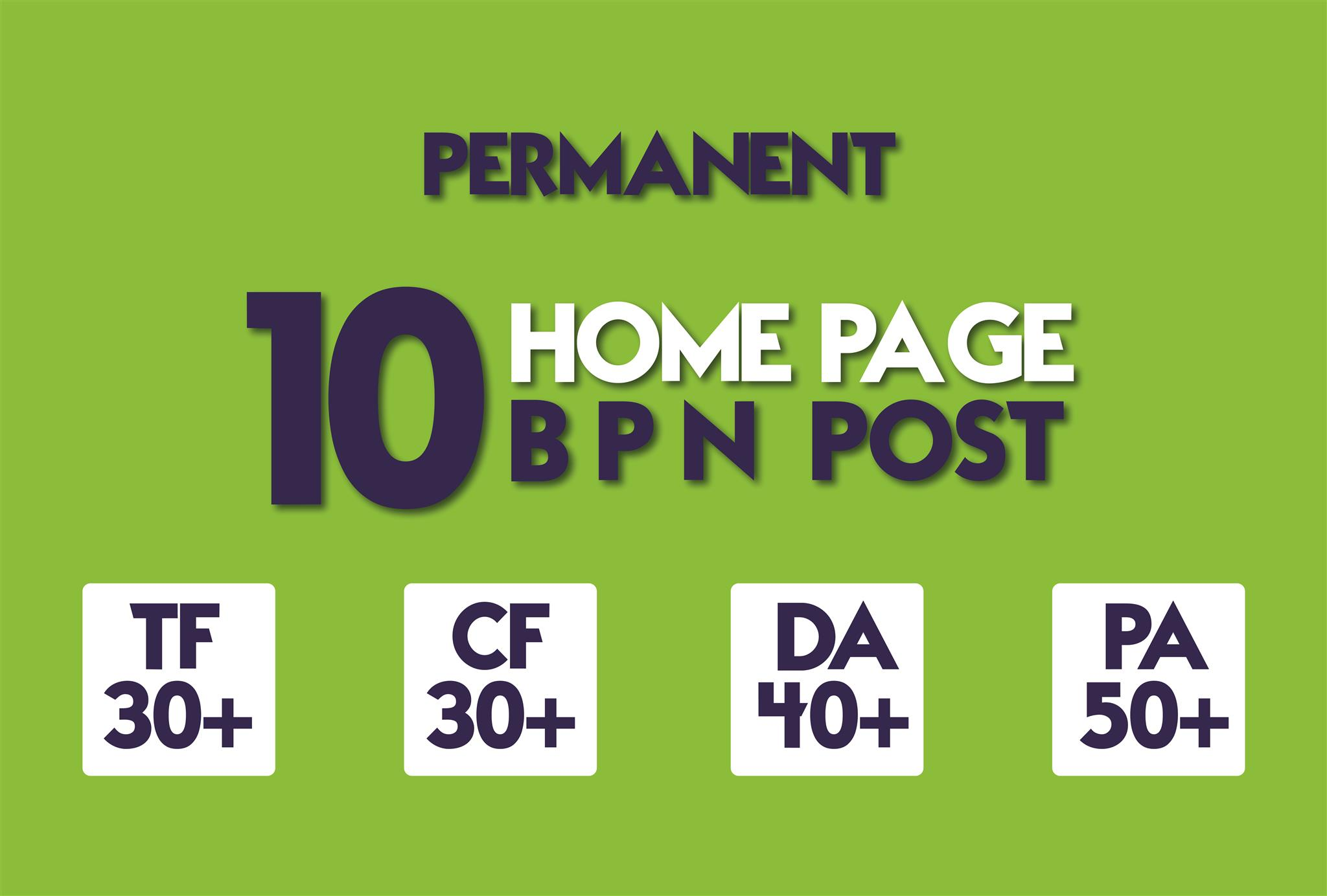 Create 10 Manual HIGH TF CF 30+ DA 35+ PA 45+ Dofollow PBN Backlinks
