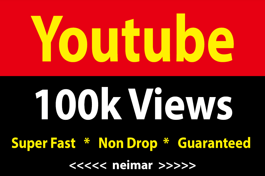 instant 100,000 / 100k Youtube Vieews  Fully Safe Lifetime Guarantee