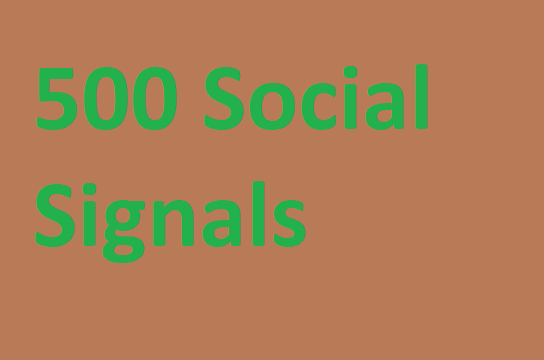 500 signals from 5 top sites for high seo ranking