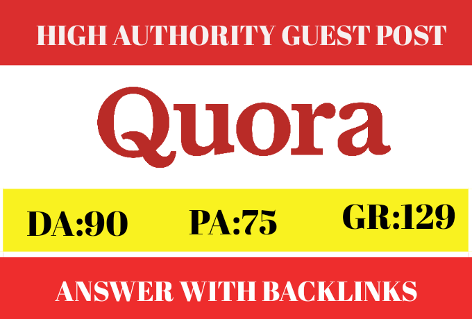 Create 5 high quality backlinks and generate traffic from quora
