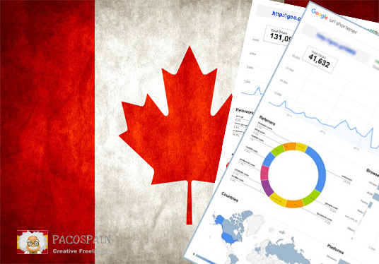 250 Canadian Targeted Visitors for 30 Days with low bounce rate