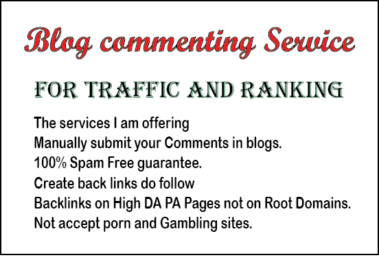 I provide you niche relevant high PR dofollow blog comment