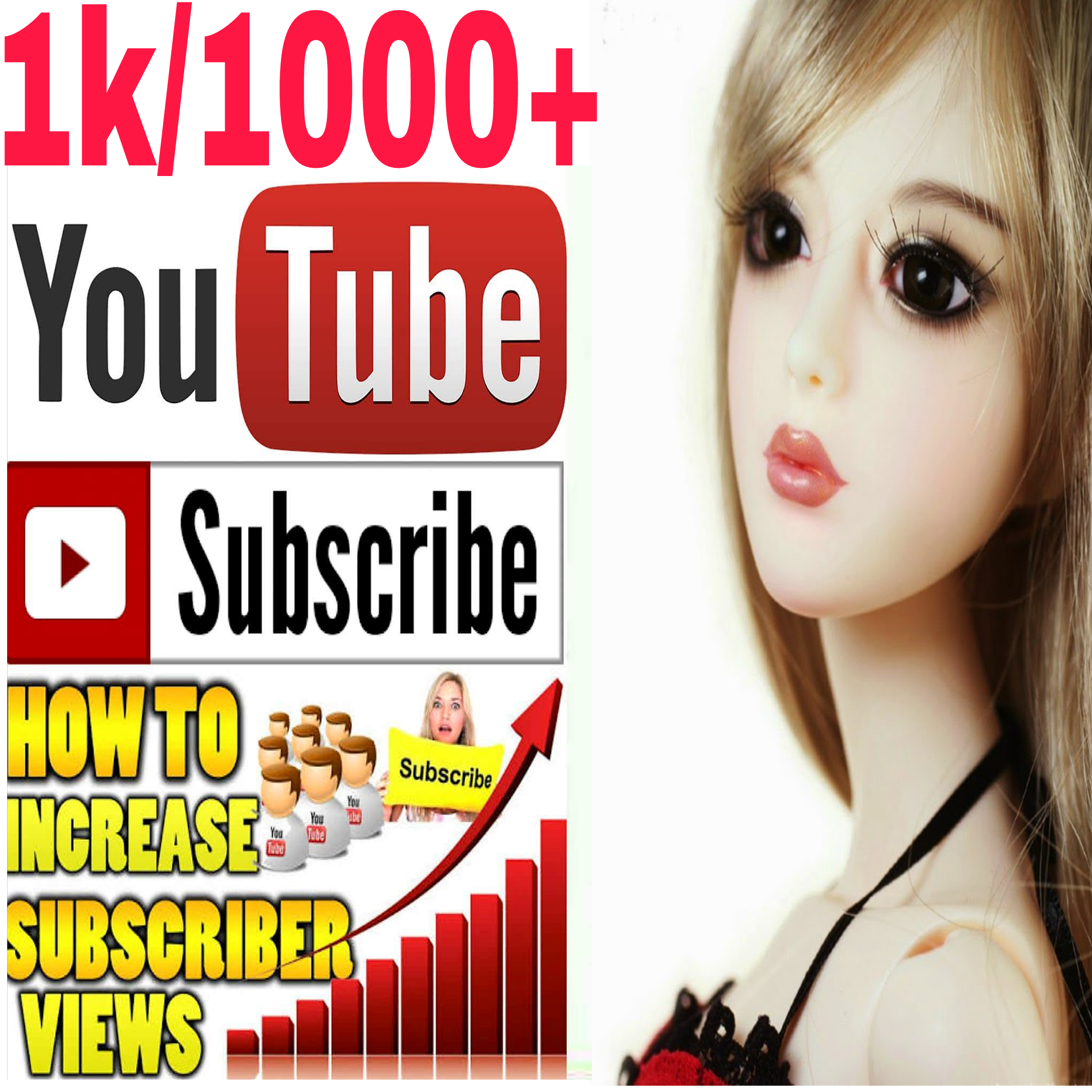Guaranteed Non-Drop manually 1050+channel Subs very fast in 2-4 hours