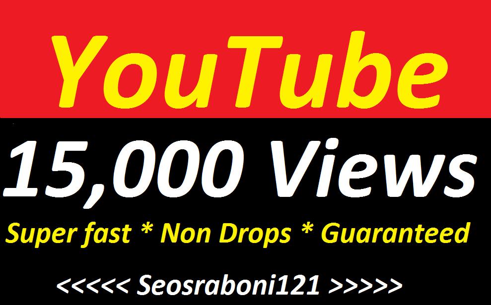 15,000+Youtube High Retentions Youtube Vi'e ws Super Speed