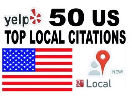 Create 50 USA Best Top Local Citations
