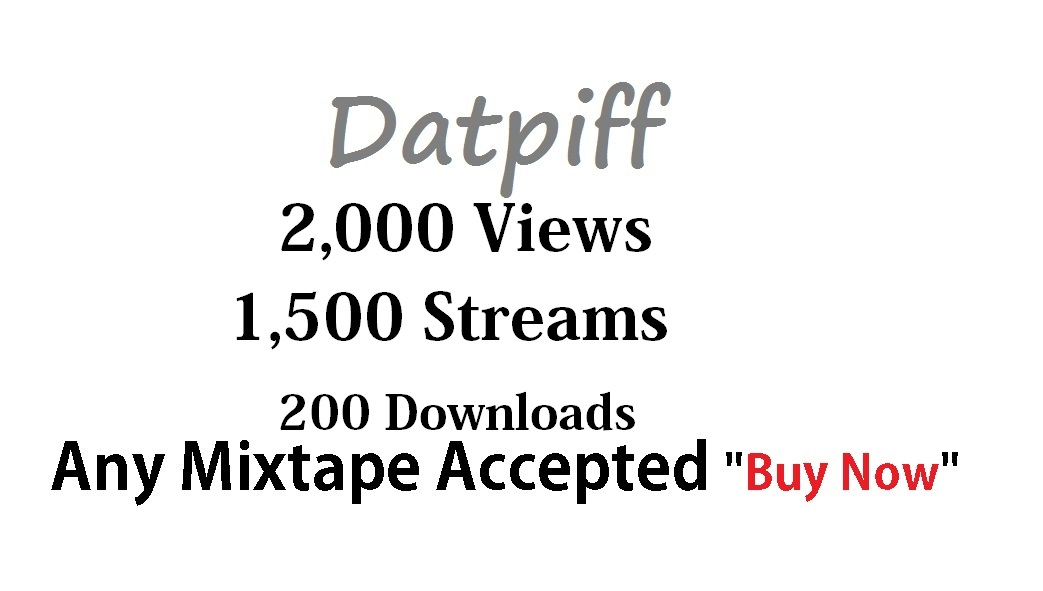 2,000 views + 1,500 streams + 200 downloads any datpiff mixtape