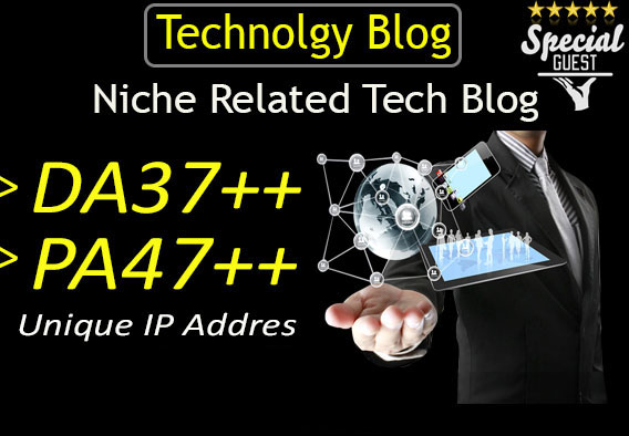 publish a guest post on DA37 HQ technology blog