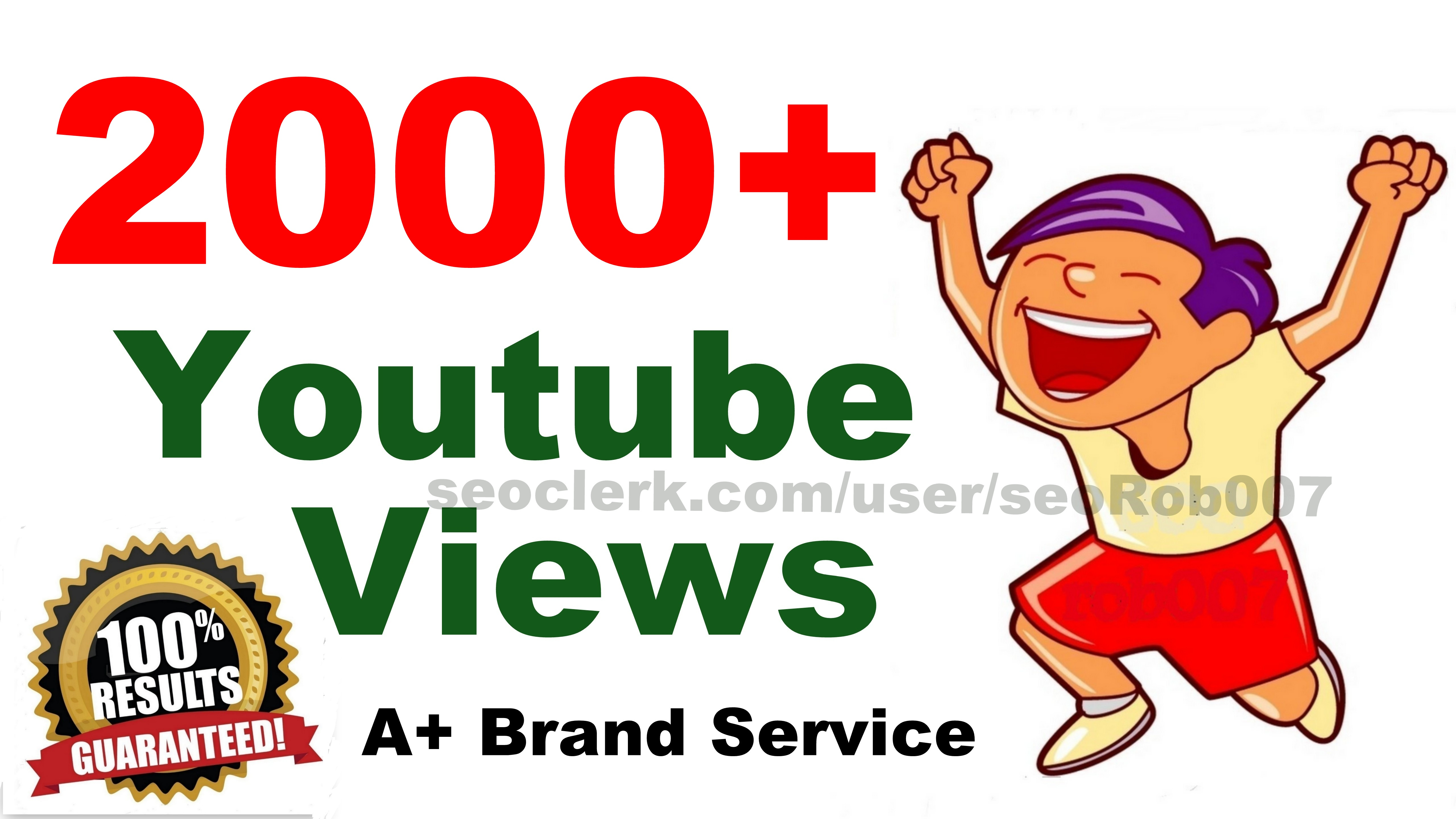 2000+ You'tube video views Promotion High Quality in 24-48 Hours