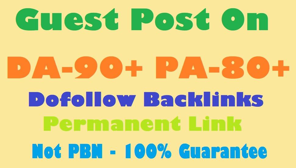 Guest Post 2 Dofollow backlink on DA 80 Site