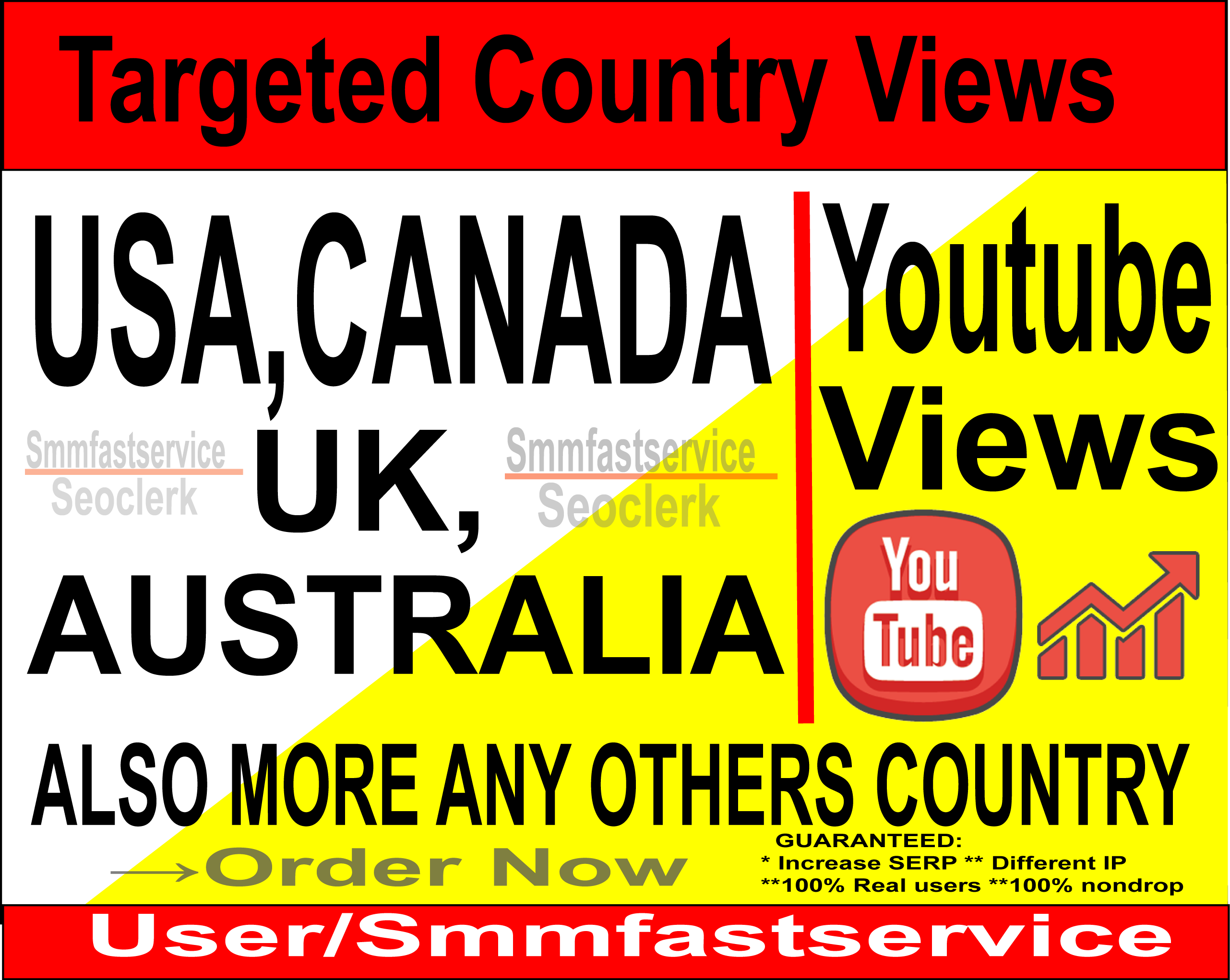 Targeted 1000+ to 2000+ USA,UK,CANADA,AUSTRALIA,BRAZIL Also more  Any others Country HIGH Retention Youtube Video Views