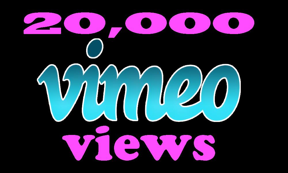 Instant 20,000 Vimoe Views in under 12 hour
