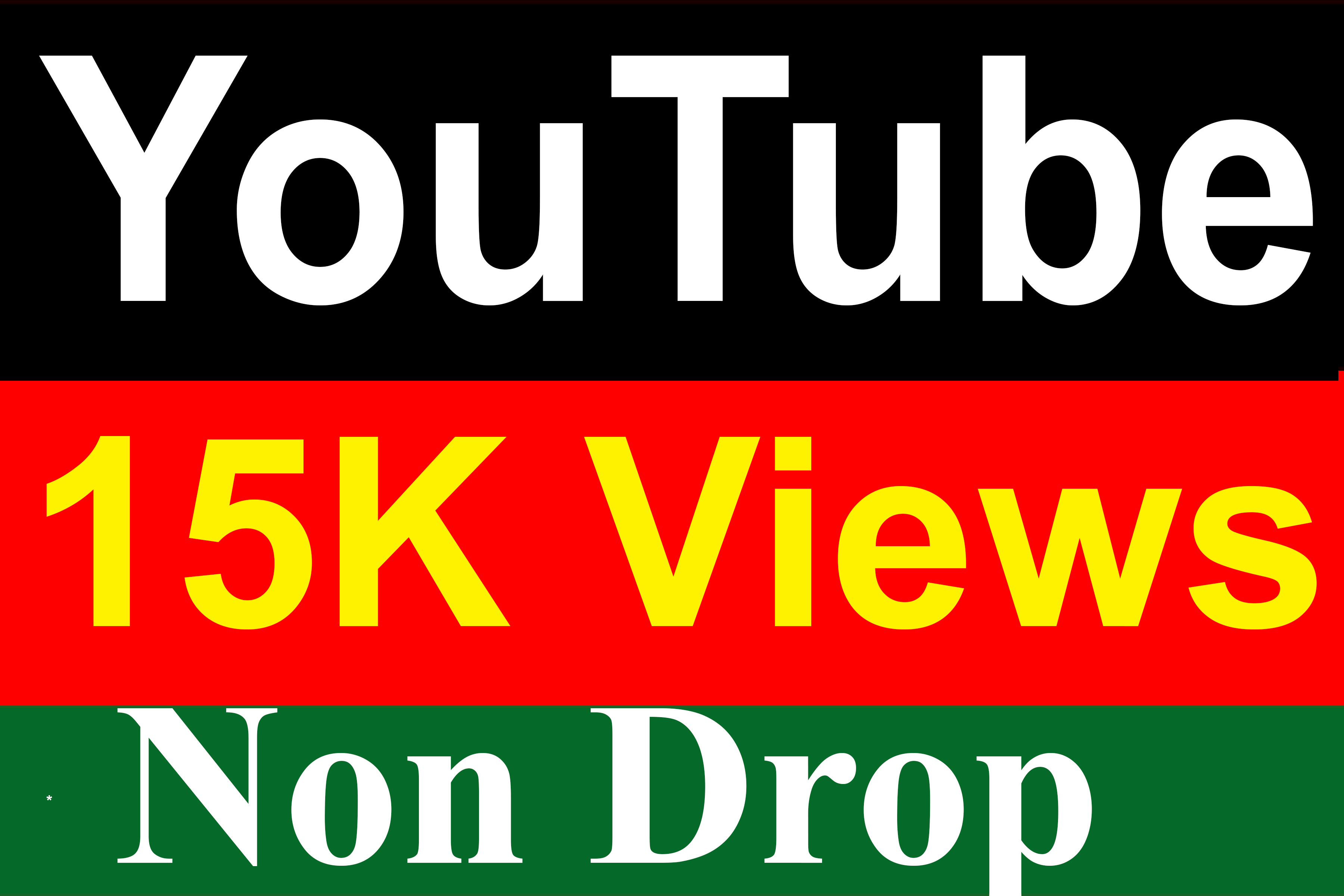 15000 / 15K YouTube Vie ws High Quality Fully Safe Instant Start