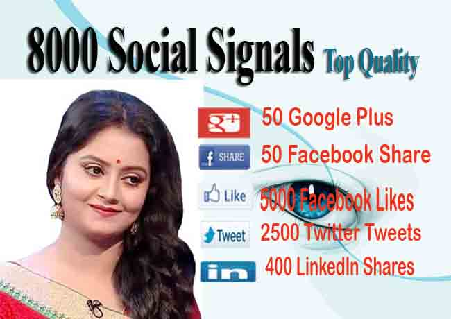 Drip-Feed 8000 Social Signals To Website Improving for 15 days