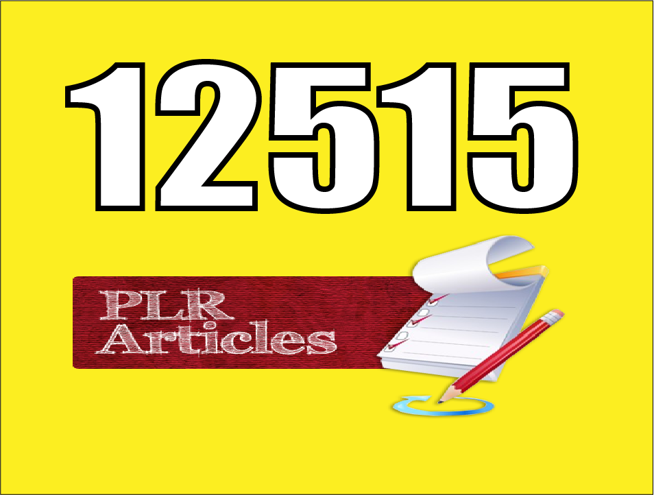 12,515 Plr For Health And Fitness With Best Quality Articles