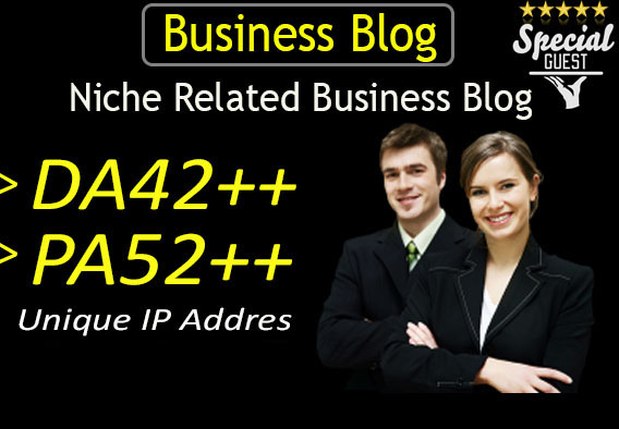 do guest post on DA42 hq business blog