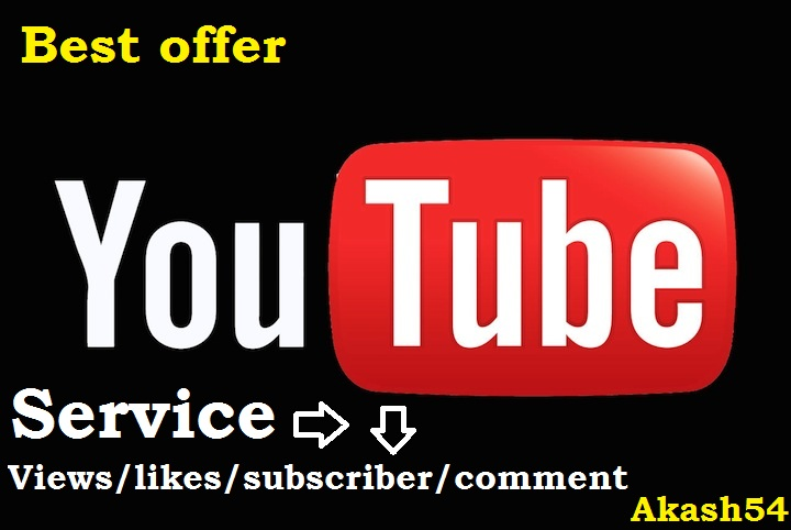 2000 views+100 subscribers High quality YouTube service fully safe and life time guaranteed