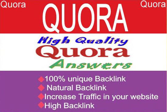 Monthly Niche Related  Quora Answer & Question Marketing For Targeted Traffic