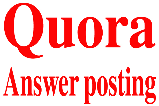 Give Niche Relevant  20  Quora Answer For Targeted Traffic