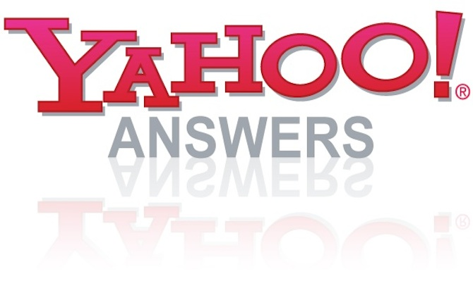 2 Yahoo Answers with your website link