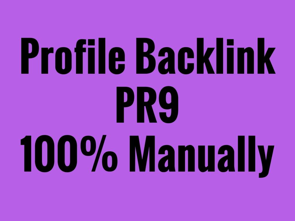 create 30 powerful profile backlinks manually