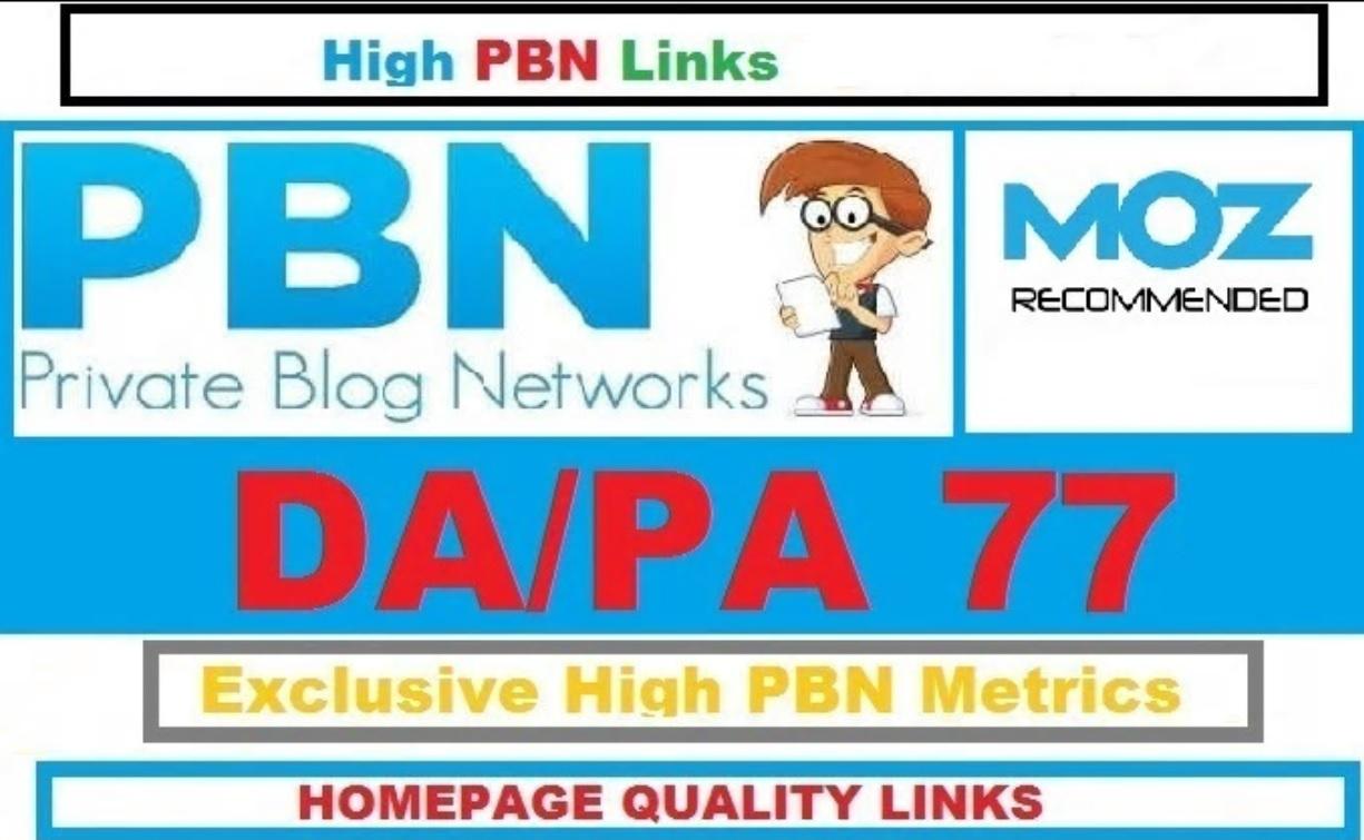 55 Manual High Da Pa 77 Dofollow Homepage Pbn Backlinks